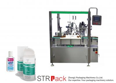 Hand Sanitizer Gel  Bottle Filling And Capping Machine